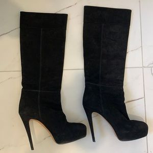 Brian Atwood Suede Heeled Boots Size 37